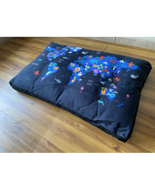 Furry Travel Map Dog Bed