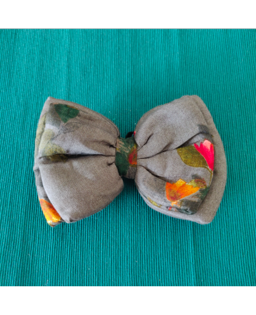 Anchor Grey Double Layered Dog Bow Tie